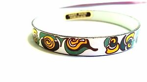 Green-Yellow-and-White-Hand-Made-Porcelain-Bangle-Vintage-Abstract-Bracelet