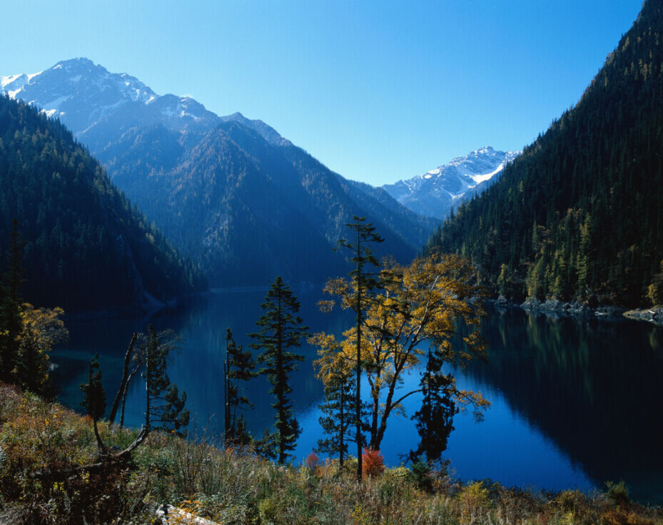 3D Mountains Lake Scenery 30 Wall Paper Wall Print Decal Wall AJ Wall Paper