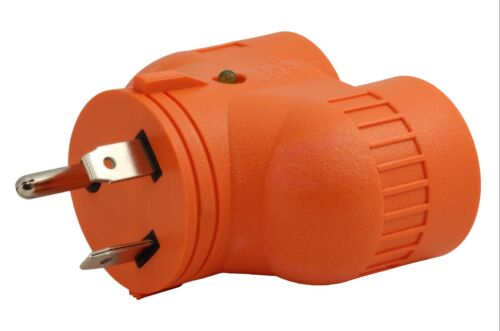 NEMA TT-30P to 2 NEMA 5-20R Multi-Outlet V-DUO Generator Adapter by AC WORKS®