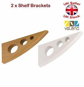 Supporti Per Mensole Legno.Dettagli Su 2 X Decorativo Supporti Per Mensole In Legno Staffe Bianco O Faggio 2 Formati
