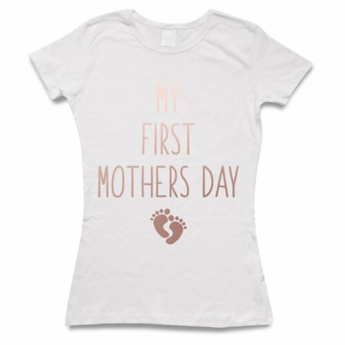 Rose Gold My First Mothers Day T Shirt Best Mummy Ever Womens Tee Gift Mum Mom