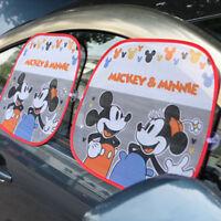 2pcs Car Side Window Mickey&Minnie Sun Shade Visor Anti-UV Cover Shield For Baby
