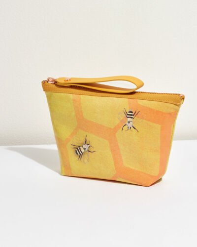 Jigsaw Rococo Make Up Bag Womens New Yellow
