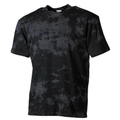 T-Shirt Batik schwarz 180g//m² Herren Shirt Outdoor Baumwolle Batikshirt NEU