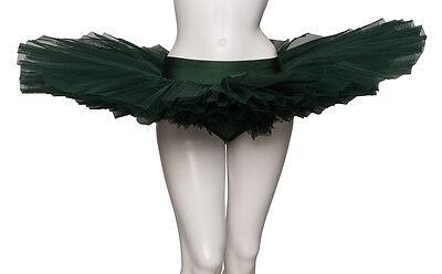 Girls Ladies Forest Green Ballet Dance Fancy Dress 3 Net Layer Tutu Skirt Katz