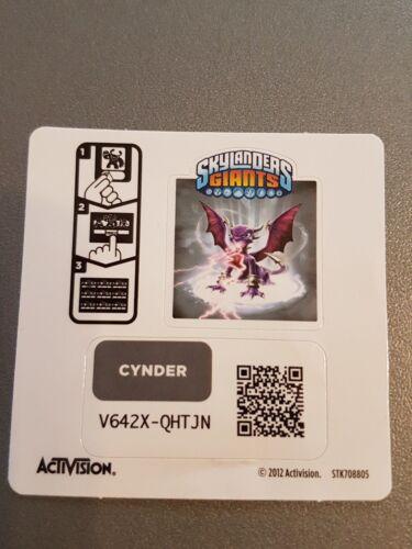 Cartes codes et autocollants Skylanders Giants/>/>/>AU CHOIX/</</<