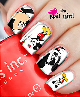20 Mixed Set MICKEY MOUSE Nail Waterslide Decals Nail Transfers Nail WRAPS