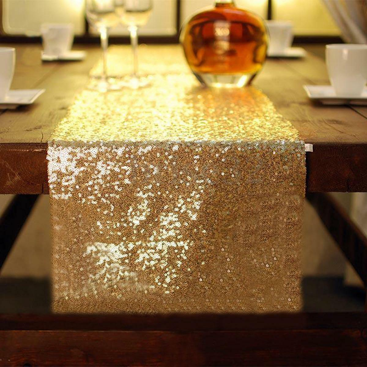 12 Quot X118 Quot Gold Sequin Table Runner Wedding Party