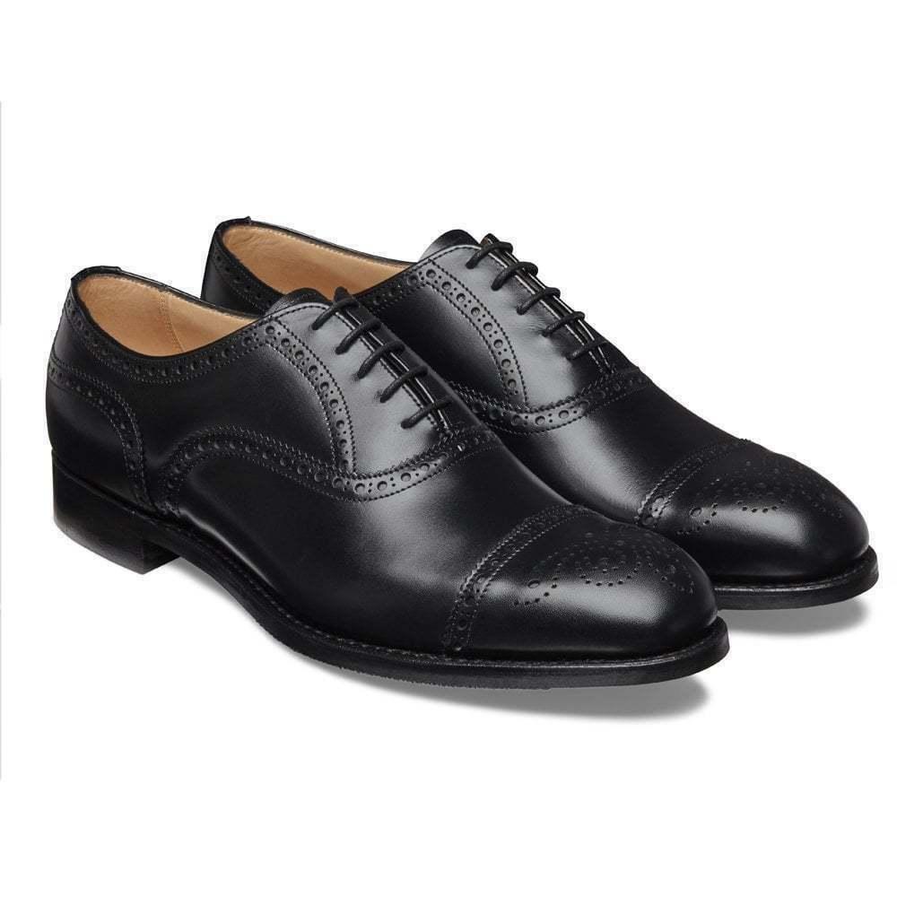 Herren Handarbeit aus echtem schwarzen Leder Brogues Oxford Schuhe