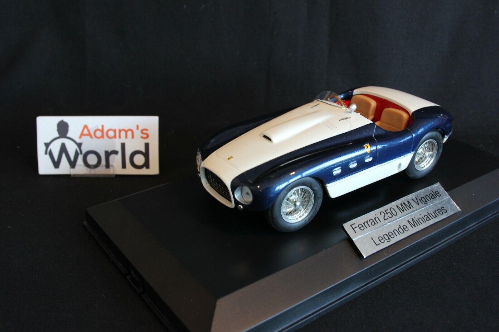 ventas en linea Legende Miniatures Ferrari 250 MM Vignale 1 18 18 18 azul   blancoo (PJBB)  mas barato