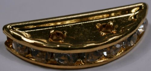 Diamantes de imitación de cristal diamante plata oro plateado Rondelle Espaciadores Granos 1 2 3 agujero