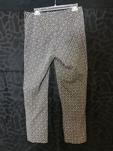 J Jill Women's Patterned Stretch Straight Dress Pants - Size 8 - EUC