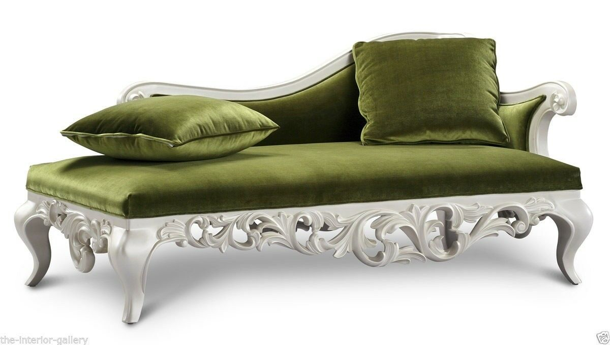 Chaise Lounge Modern Chaise Sofa Chaise Lounge Sofa Claudette Green For Sale Online