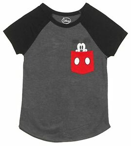 5e016b6a Disney Womens Junior Fashion Tee T-shirt Top Mickey Mouse Face ...