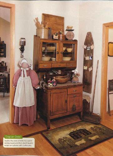 Vacuum Cleaner Cover Primitive Amish Faceless Folkart Grandma - Homespun rot crm