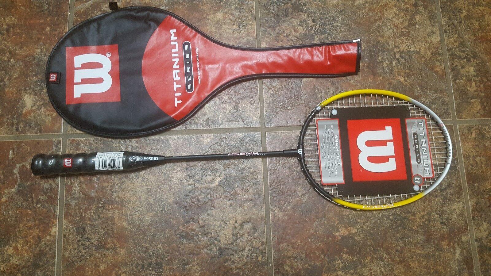 Nueva serie de titanio Wilson TI Smash Badminton Raqueta Con Cubierta.
