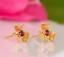 Indexbild 2 - 14 Karat Gold Rosa Turmalin Ohrringe Naturedelstein Nieten Weihnachtsgeschenke