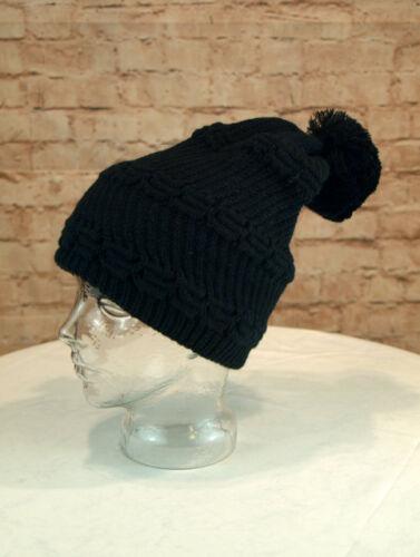 Wintermütze Damen Mütze Bommel Winter Strickmütze Grobstrick Bommelmütze schwarz