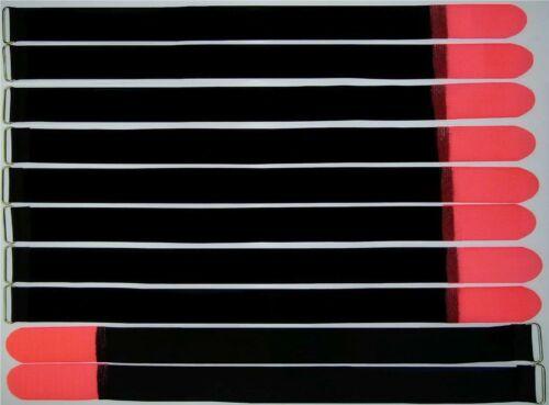 10 Klettband Kabelbinder 80 cm x 50 mm neon rot Kabel Klettbänder Kabelklettband