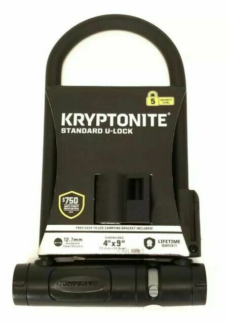 "Silver and Blue Knockout U-Lock-Security 5 Kryptonite 4/""*9/""-13mm U409 Black"