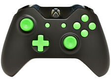 """BLACK/GREEN"" XBOX ONE RAPID FIRE MODDED CONTROLLER 40 MODS COD BO 3 IW GOW 4"
