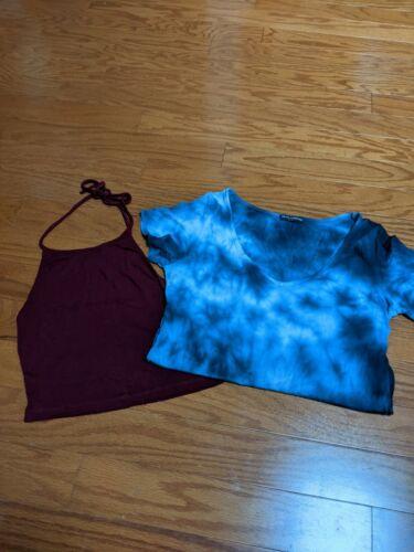 Set Of 2 Brandy Melville Tops. Short Sleeve Blue T