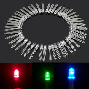 50X 4pin RGB Water Clear Common Anode Red Green Blue Clear Lens LED Lamp