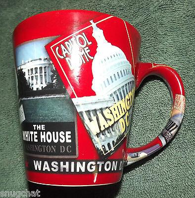 Washington D.C. Mug Capitol White House Memorials Monument Unique Tribute Cup