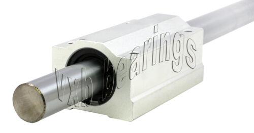 "20mm Diameter Shaft 30/""inch Long w//Block /& Bearing Linear Motion CNC Router Rod"