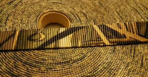 "5 Yards Heavy 1/""  Inch Waterfowler  Camo Polyester Webbing"