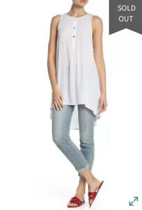 SHOW-ME-YOUR-MUMU-Tawny-High-Low-Tunic-Tank-Top-White-Size-Med-NWT-118
