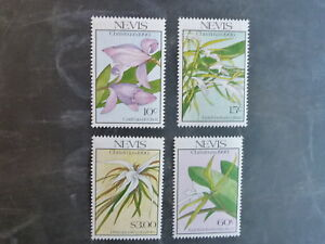 1990-NEVIS-CHRISTMAS-SET-OF-4-ORCHID-MINT-STAMPS-MNH