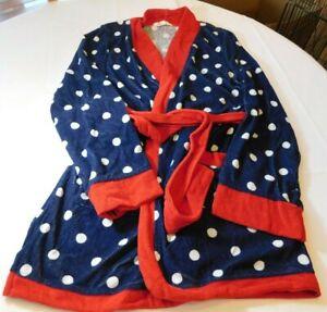 Insomniax Femmes Peignoir Tissu Eponge Bleu Manches Longues Taille Variations