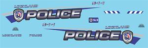 1//24 Lockland Ohio Police Department Waterslide Decals