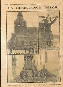 Ruines-Eglise-de-Haelen-Limbourg-Flandres-Camptich-Soldats-de-Belgique-WWI-1914
