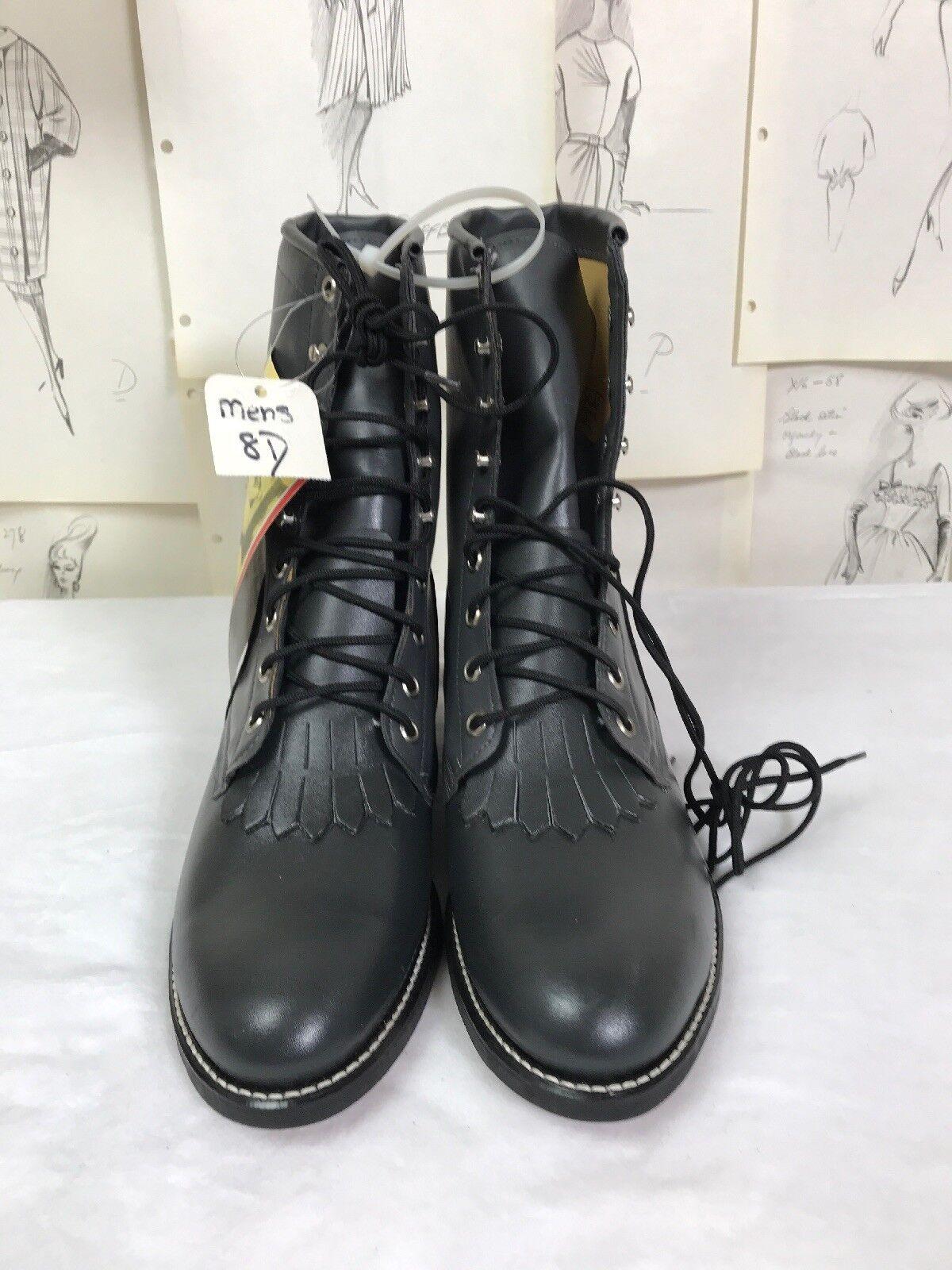 NEW Mens TEXAS BRAND sz 8D Roper Paddock Dress Riding Boot NOS Cowboy Work Green