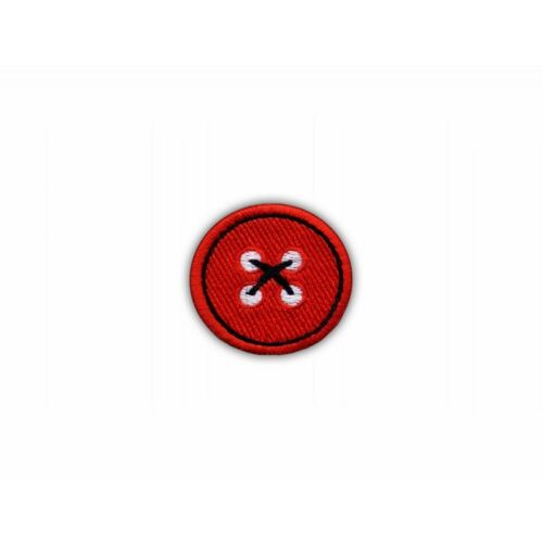 Red button Embroidered PATCH//BADGE