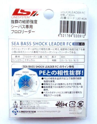 Sea Bass Shock Leader 30.2m30m.100/% Fluorocarbon Salzwasser