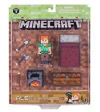 "Minecraft Series 3 Alex Survival Pack - 3"" action figure & accessories NEW"