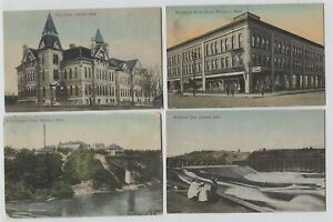 5-Hand-colored-1910-Era-Brainerd-Minnesota-amp-Mississippi-River-Postcards
