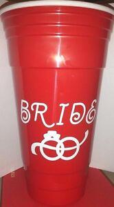 New Bachelorette Bride Bridal Red Solo Cup Double
