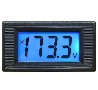1Pcs AC 80-500V 2-wire 3 1/2 Digital Blue LCD Panel Meter Voltage Power Supply