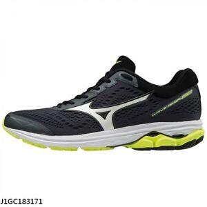 Mizuno Wave Rider 22 Black Yellow White Men D Width Running Shoes ... 3c5463d319c