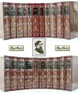 DICKENS-LIBRARY-COMPLETE-21-VOL-Easton-Press-BLACK-LABEL-MOST-SEALED