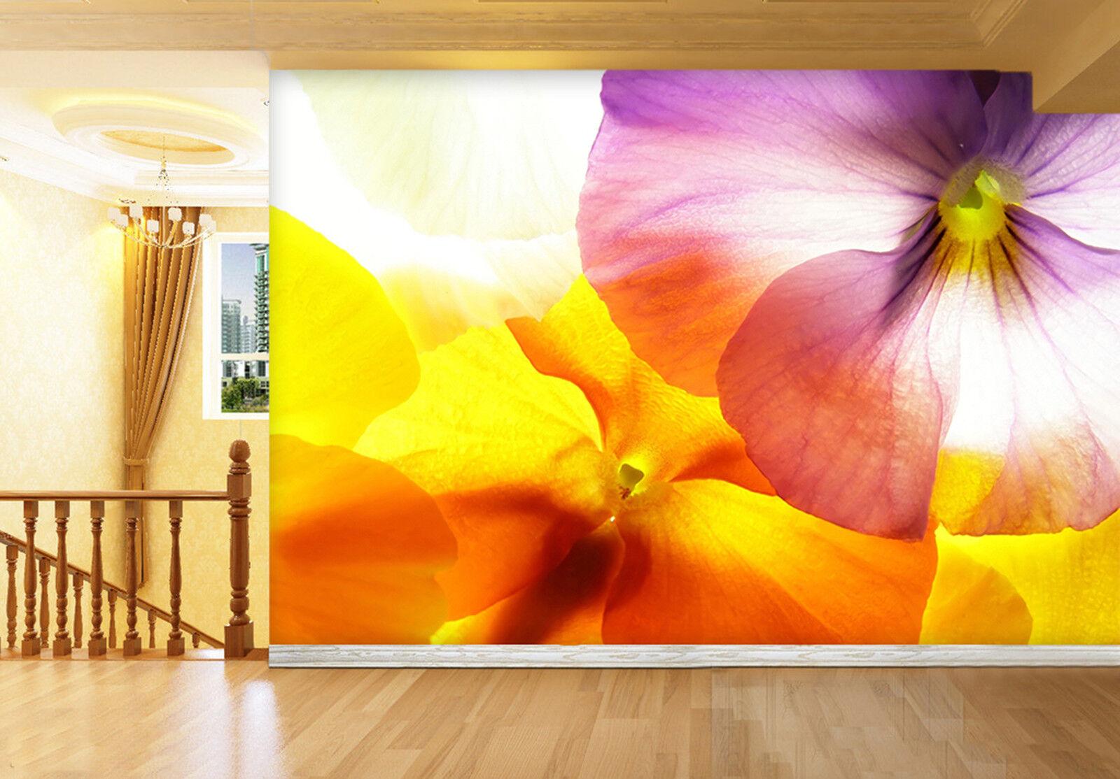 3D Blühende Blumen Fototapeten Wandbild Fototapete Bild Tapete Familie Kinder