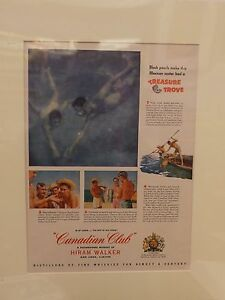 Original-1957-Vintage-Advert-ready-to-framed-Canadian-Club-Whisky-Mexico