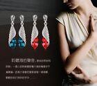 New Fashion Women's Elegant Crystal Rhinestone Ear Studs Silver Dangle Earrings