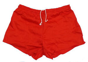 Red-Ex-Army-Shorts-NEW-vintage-1980s-PT-hot-pants-retro-sports