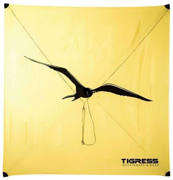 Tigress All Wind Fishing Kite  1015 MPH Wind  giallo  Free Ship
