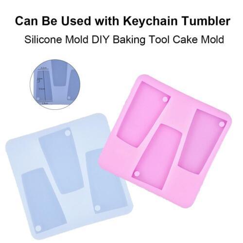 Tumbler Silicone Fondant Mold DIY Baking Cake Mould DIY Keychain Pendant Decor